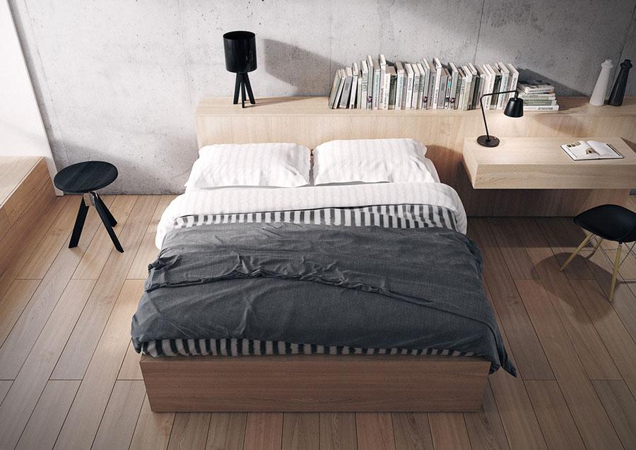 Idee per arredare una camera da letto in legno dal design moderno n.08