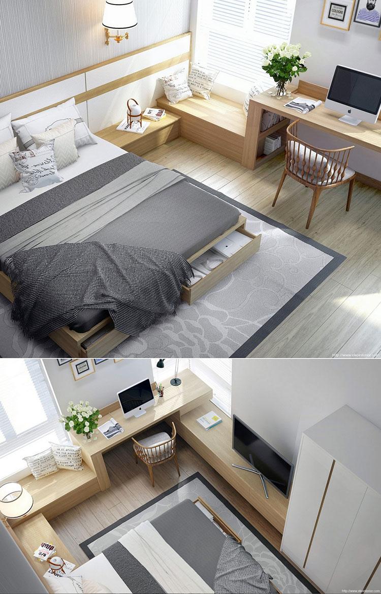 Idee per arredare una camera da letto in legno dal design moderno n.10