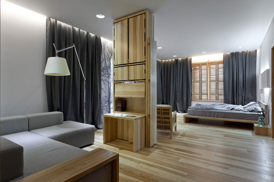 Idee per arredare una camera da letto in legno dal design moderno n.13