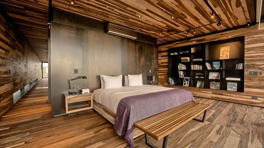 Idee per arredare una camera da letto in legno dal design moderno n.16