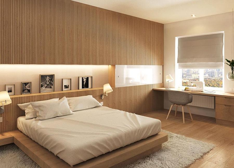 Idee per arredare una camera da letto in legno dal design moderno n.18