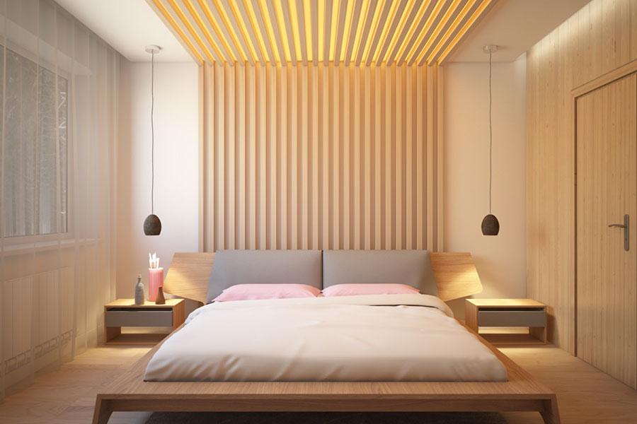 Idee per arredare una camera da letto in legno dal design moderno n.19