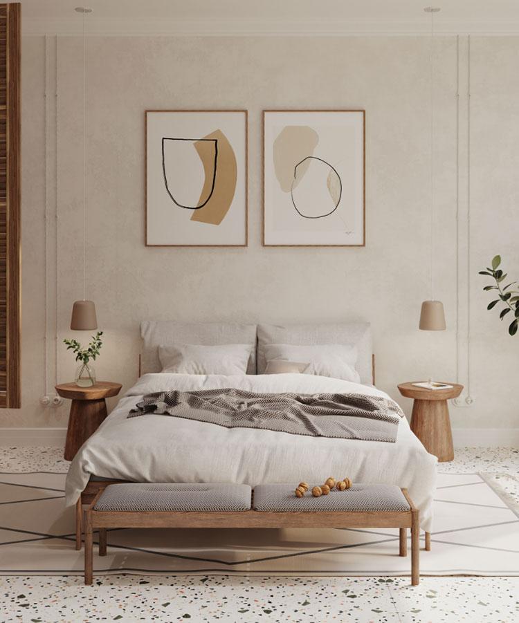 Idee per arredare una camera da letto in legno rustica n.02