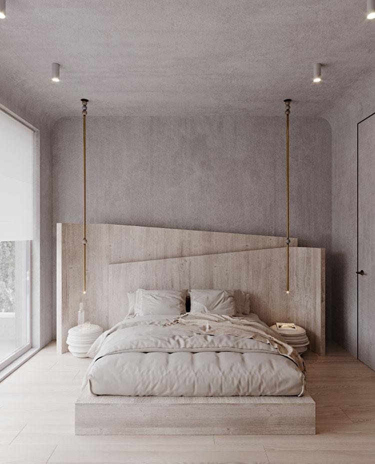 Idee per arredare una camera da letto in legno rustica n.03