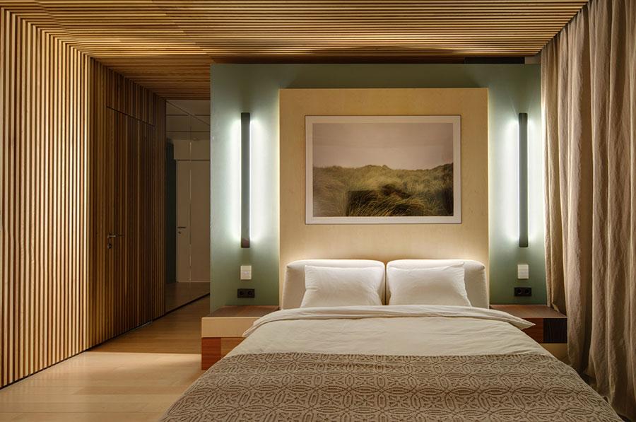 Idee per arredare una camera da letto in legno rustica n.04