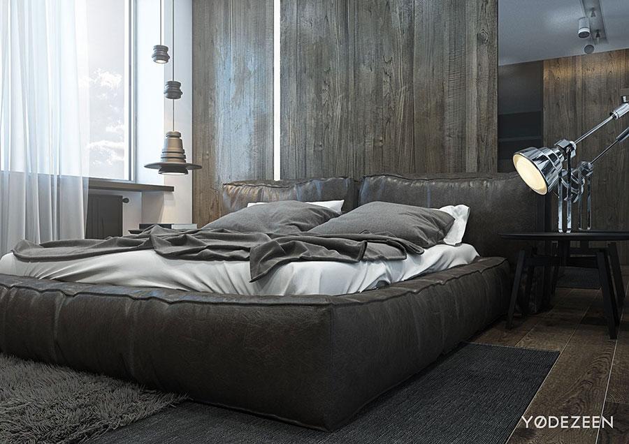 Camera da letto nera in stile dark n.09