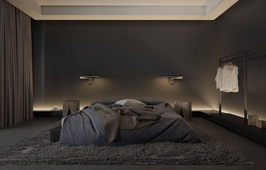 Beautiful Parete Nera Camera Da Letto Ideas - Comads897.com ...