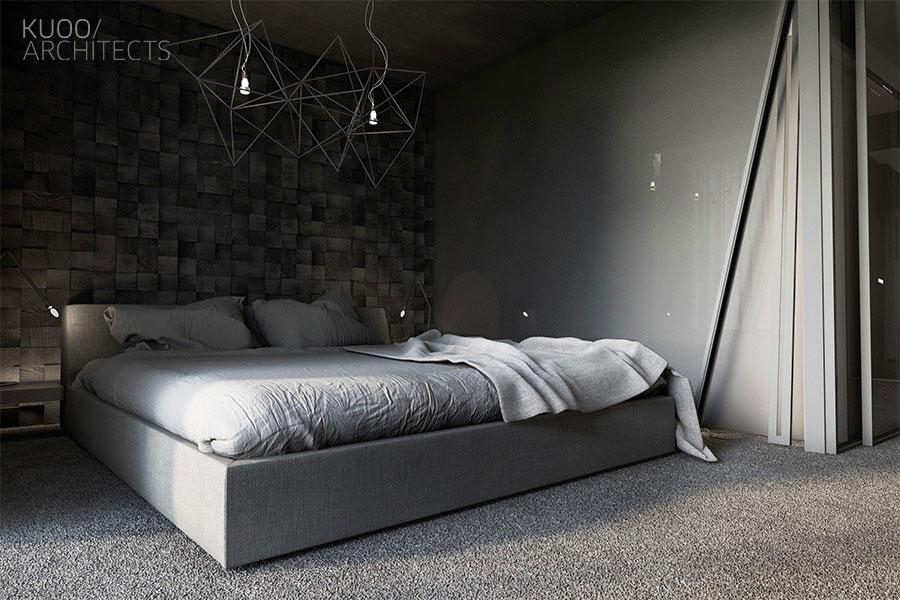 Camera da letto nera in stile dark n.12