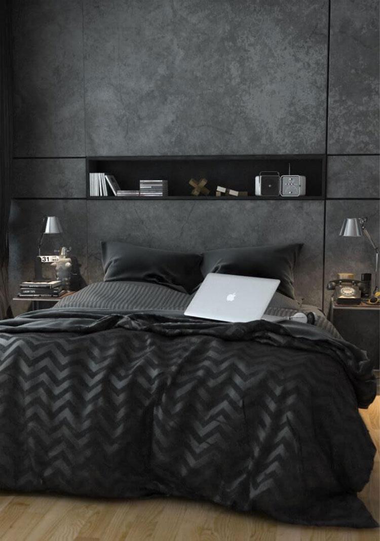 Camera da letto nera 20 idee per arredi di design in for Idee per verniciare camera da letto