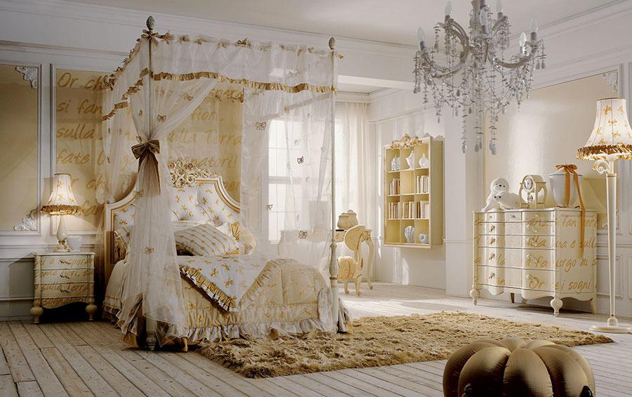 Camerette classiche romantiche ecco 30 modelli da sogno - Letto a baldacchino bambina ...