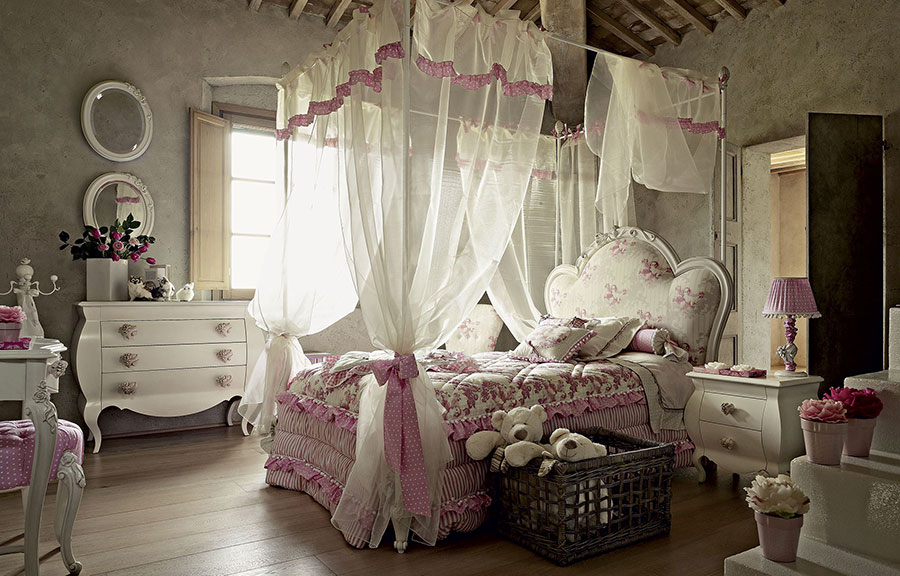 Camerette classiche romantiche ecco 30 modelli da sogno for Camerette romantiche