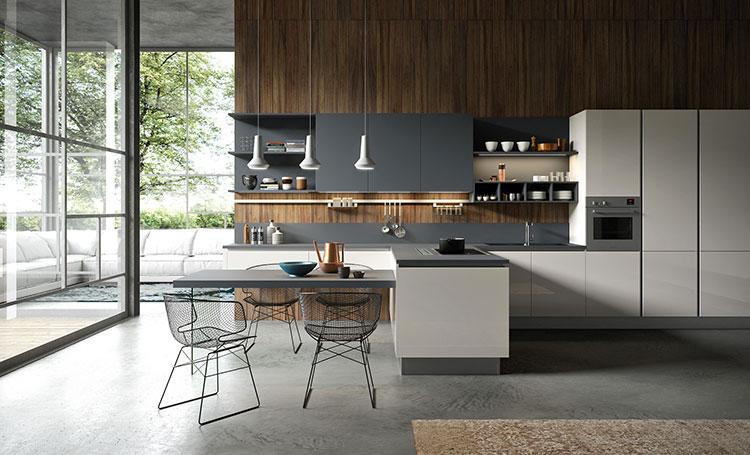 Cucina con tavolo integrato 25 modelli delle migliori - Isola cucina con tavolo ...
