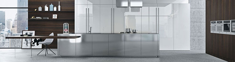 Modello di cucina con tavolo integrato n.05