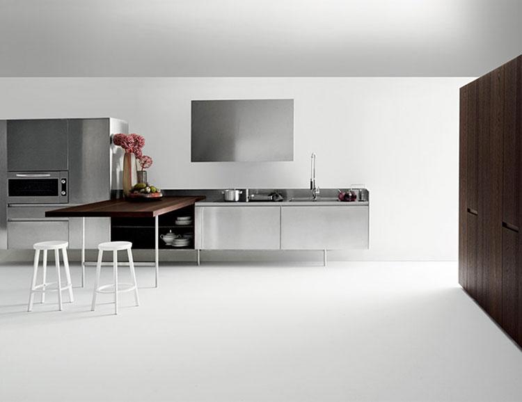Modello di cucina con tavolo integrato n.11