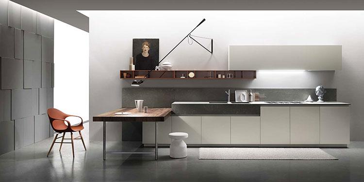 Modello di cucina con tavolo integrato n.15