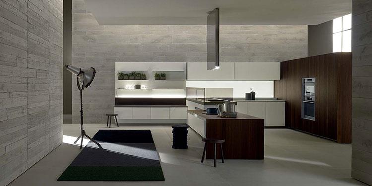 Modello di cucina con tavolo integrato n.16