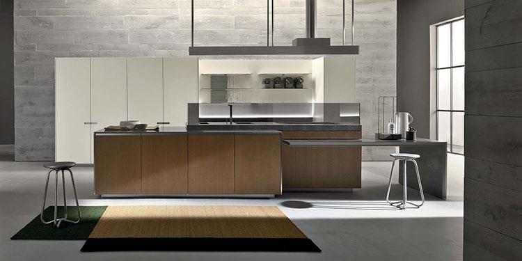 Modello di cucina con tavolo integrato n.17