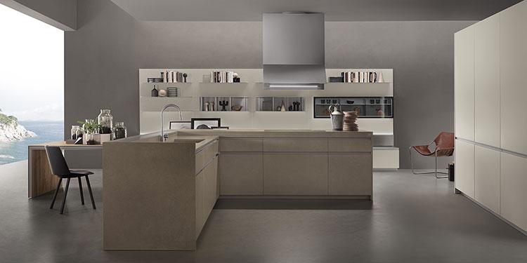Modello di cucina con tavolo integrato n.18