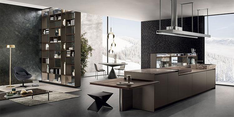 Modello di cucina con tavolo integrato n.19