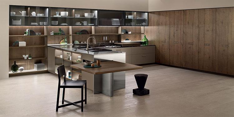 Modello di cucina con tavolo integrato n.20