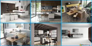 Cucina con tavolo integrato 25 modelli delle migliori for Marche arredamento design