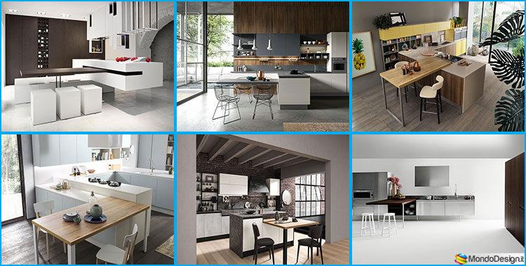 Cucina con tavolo integrato 25 modelli delle migliori marche - Migliori cucine ...
