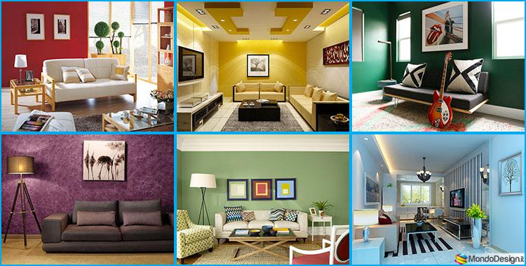 60 Idee per Colori di Pareti del Soggiorno | MondoDesign.it