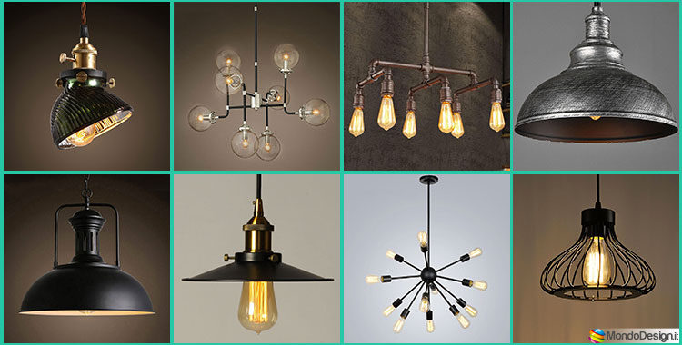 30 lampadari in stile industriale in vendita online for Vendita online complementi d arredo