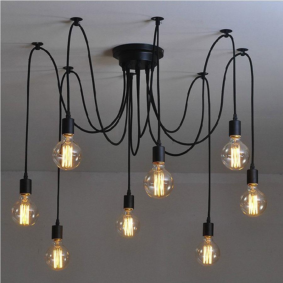 Modello di lampadario a sospensione in stile industriale n.01