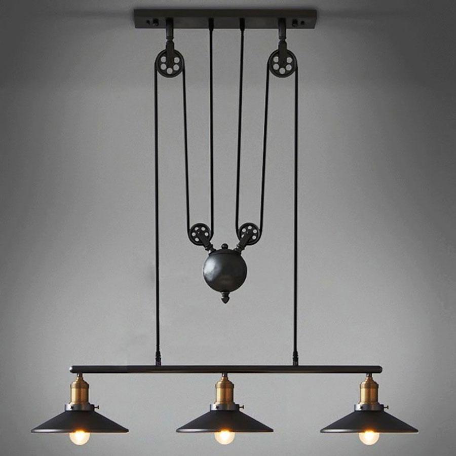 Modello di lampadario a sospensione in stile industriale n.02