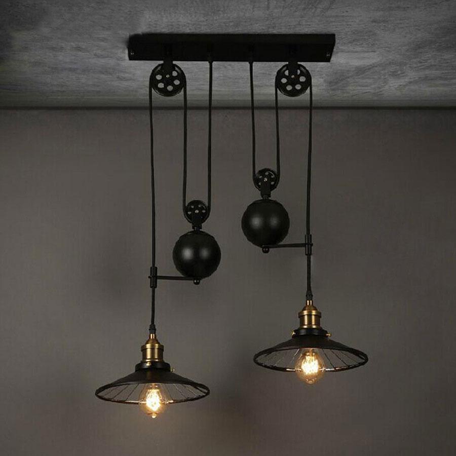 Modello di lampadario a sospensione in stile industriale n.03