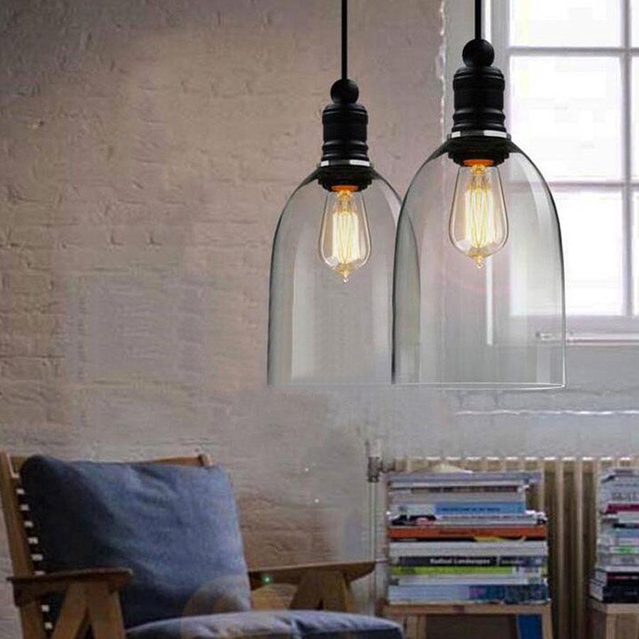 Modello di lampadario a sospensione in stile industriale n.04