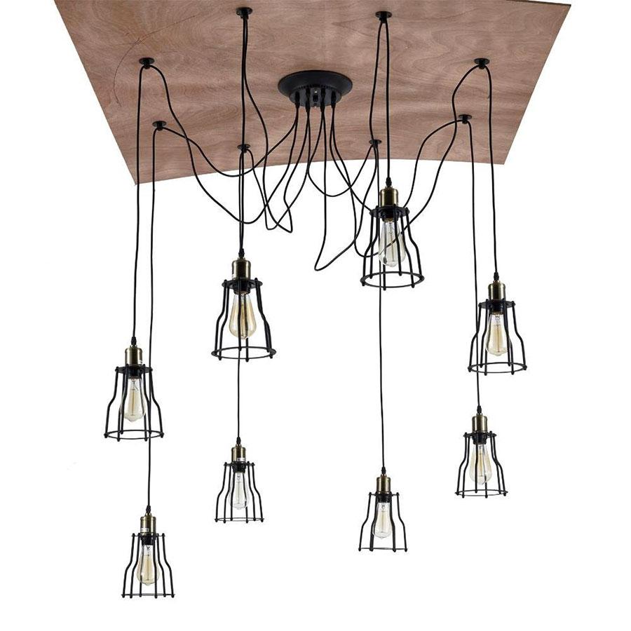 Modello di lampadario a sospensione in stile industriale n.06