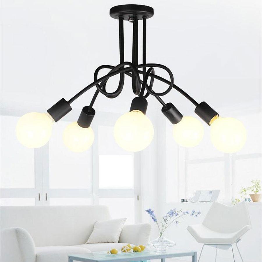 Modello di lampadario a sospensione in stile industriale n.07