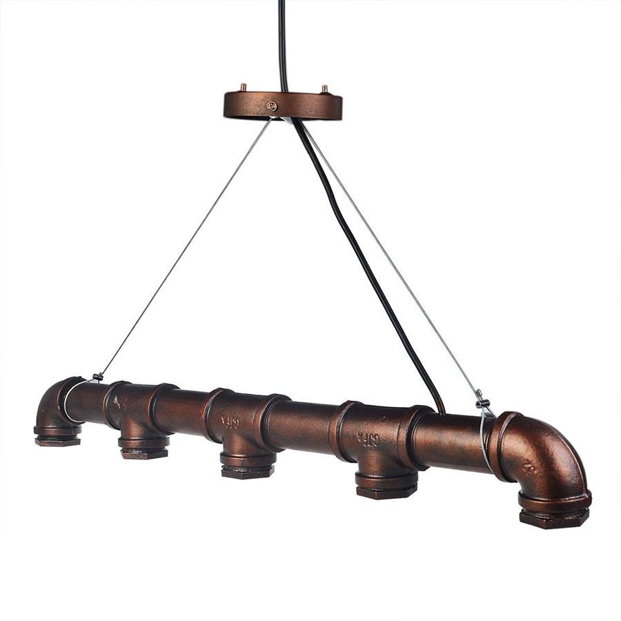 Modello di lampadario a sospensione in stile industriale n.12