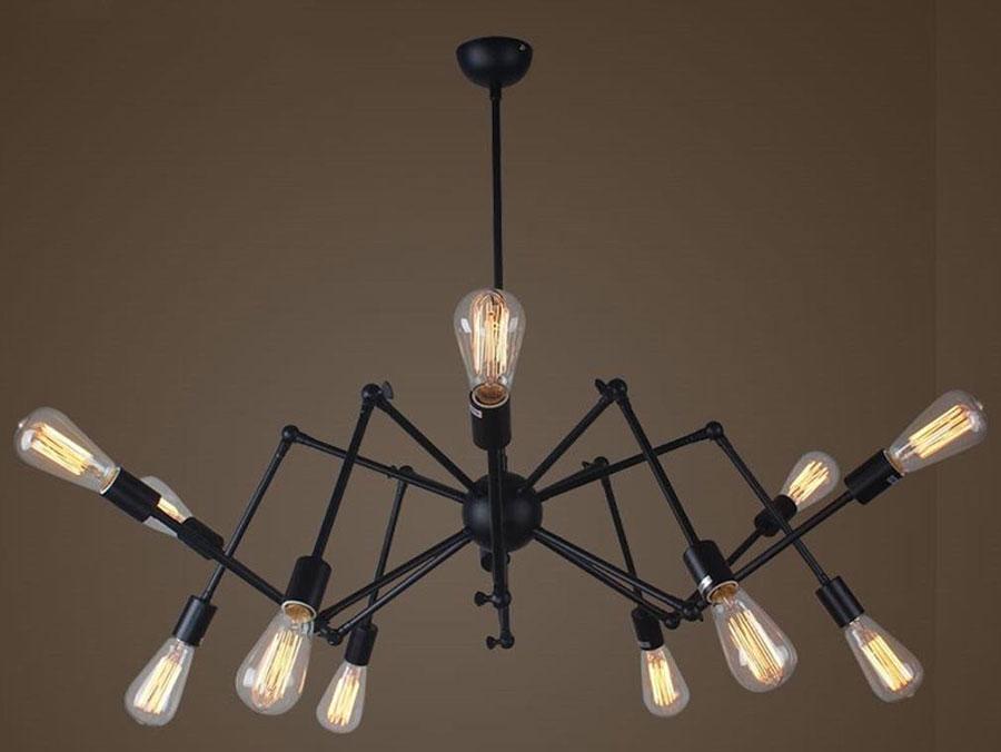 Modello di lampadario a sospensione in stile industriale n.13