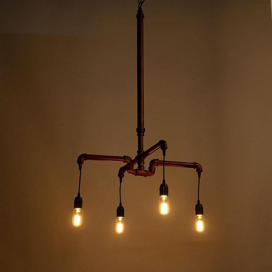 Modello di lampadario a sospensione in stile industriale n.17