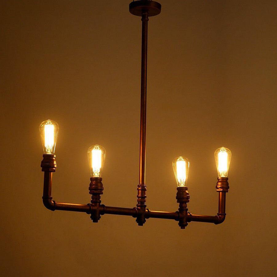Modello di lampadario a sospensione in stile industriale n.18
