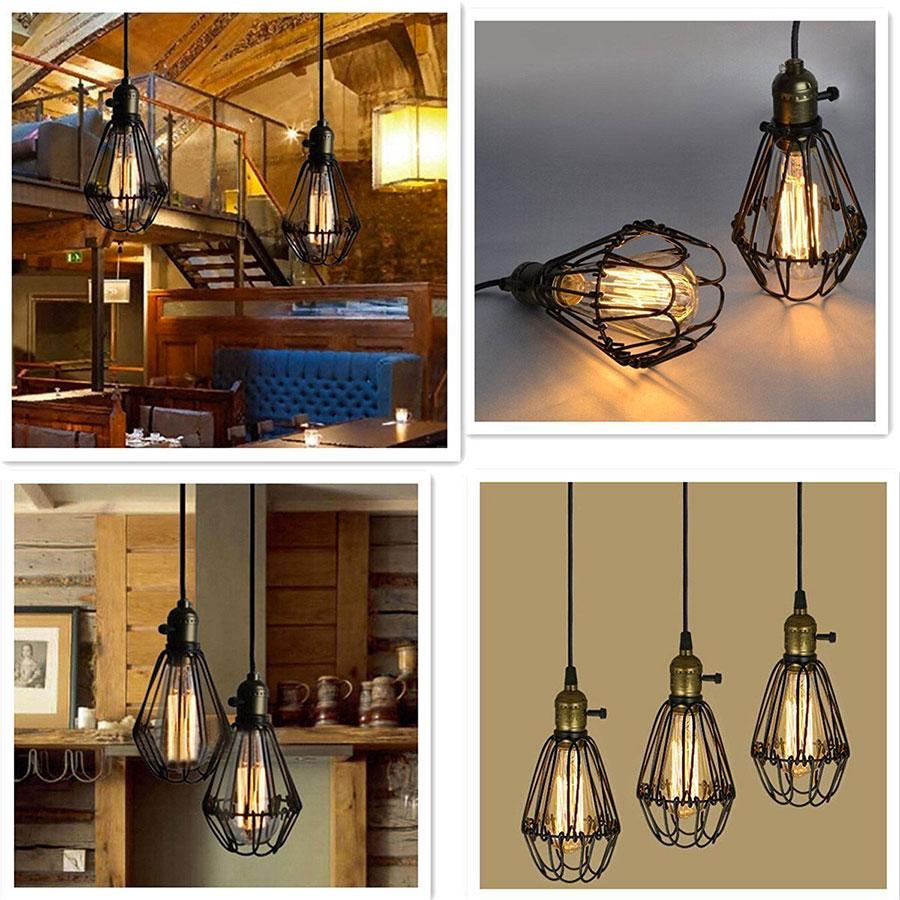 Modello di lampadario a sospensione in stile industriale n.19