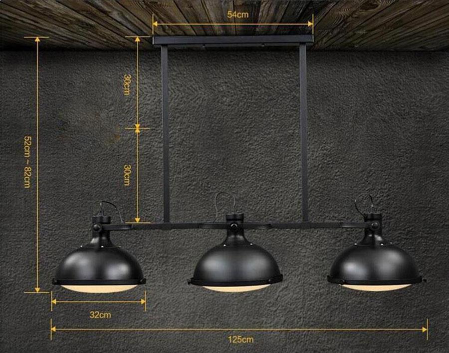 Modello di lampadario a sospensione in stile industriale n.20