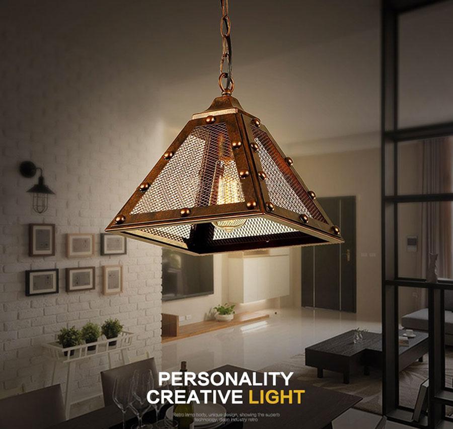 Modello di lampadario a sospensione in stile industriale n.23