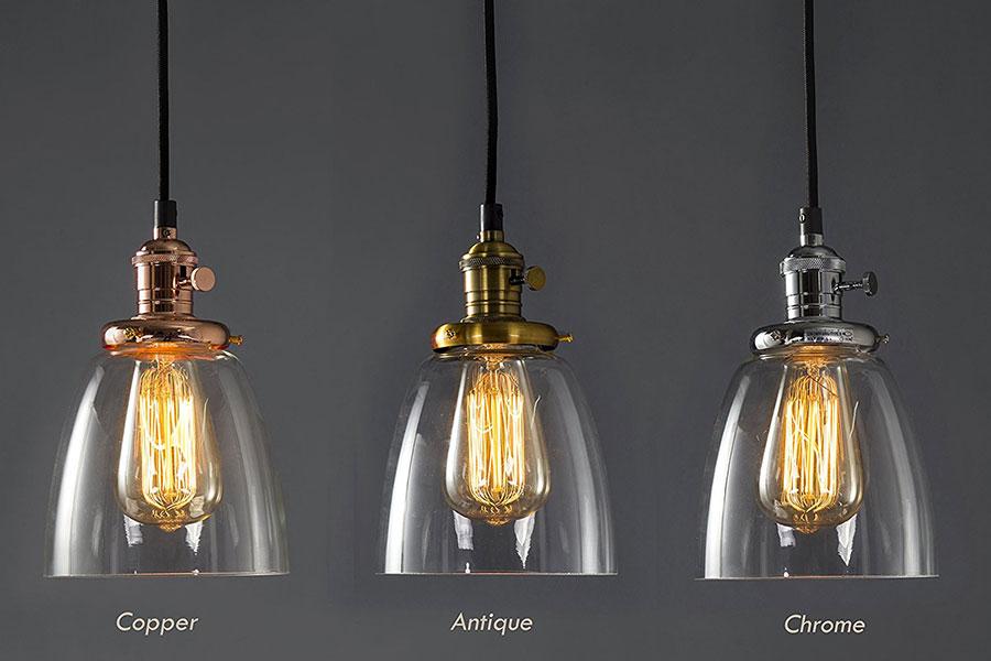 Modello di lampadario a sospensione in stile industriale n.24
