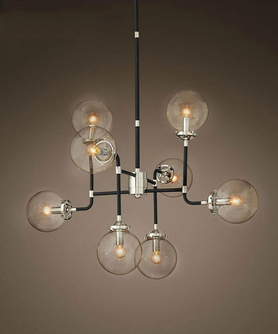 Modello di lampadario a sospensione in stile industriale n.26