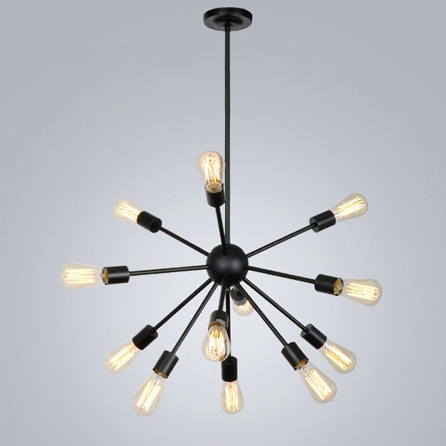 Modello di lampadario a sospensione in stile industriale n.27