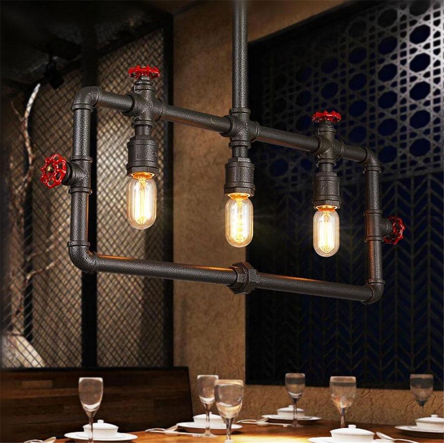 Modello di lampadario a sospensione in stile industriale n.28