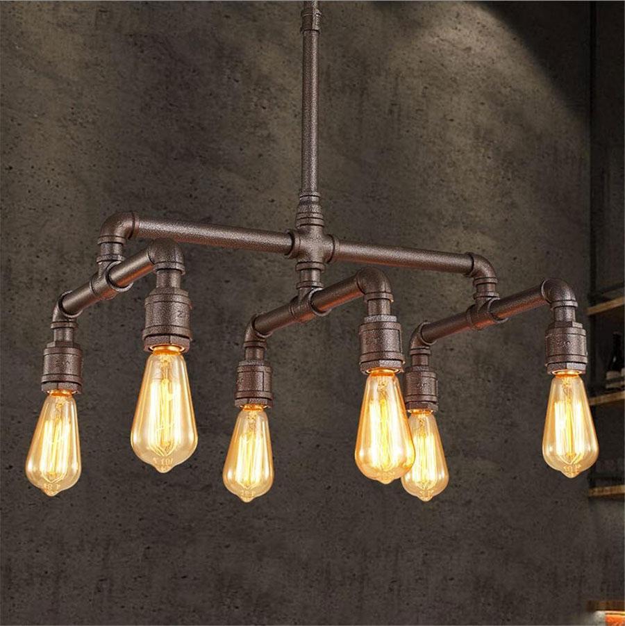 Modello di lampadario a sospensione in stile industriale n.29