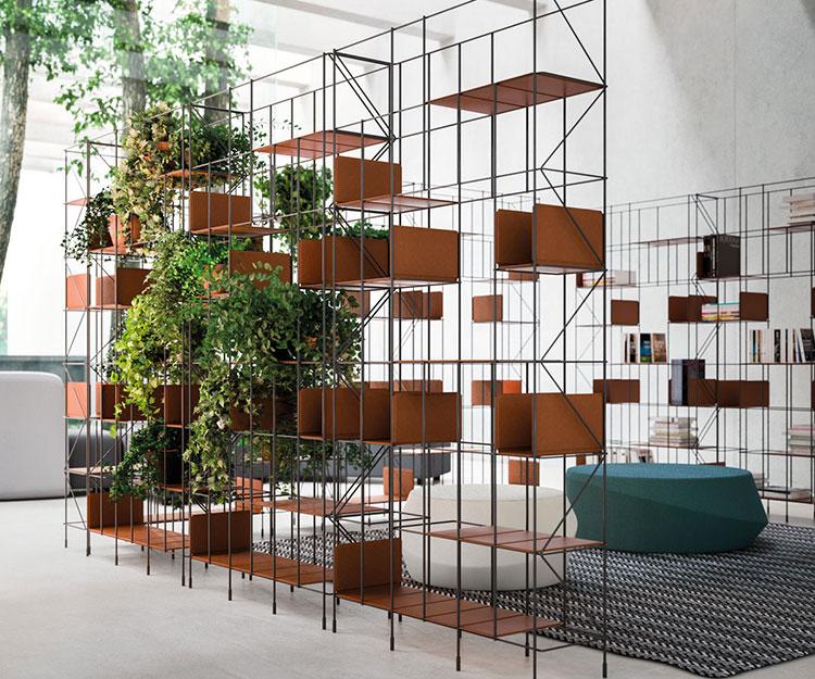 Libreria a parete per soggiorno Horm 02