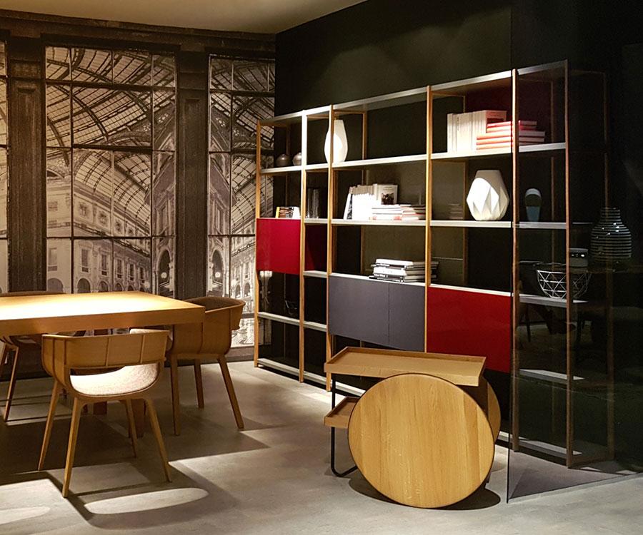 Libreria a parete per soggiorno Horm 03