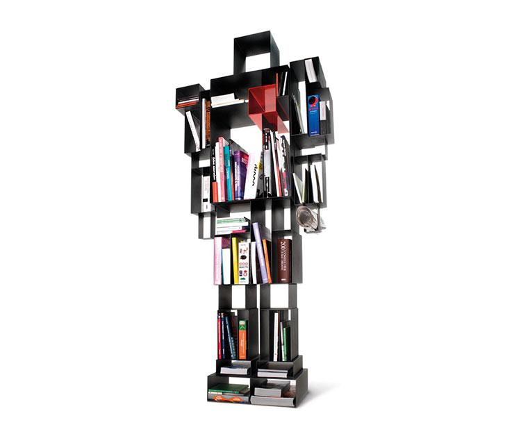 Libreria a parete per soggiorno Horm 05
