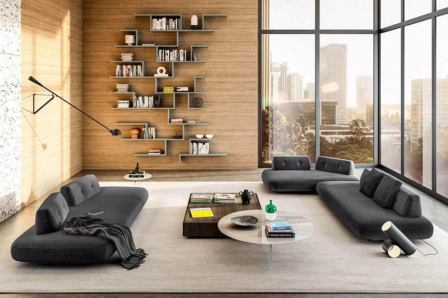 Libreria a parete per soggiorno Lago 01